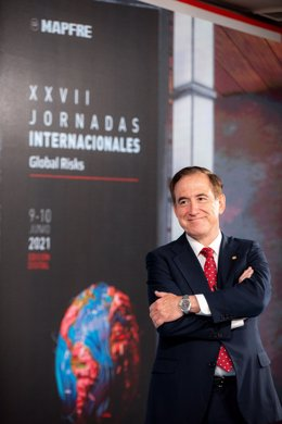 El presidente de Mapfre, Antonio Huertas, en las jornadas Mapfre Global Risks del 10 de junio de 2021.