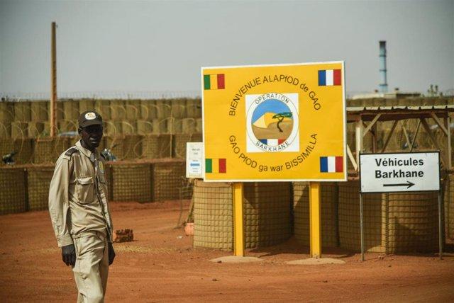 Archivo - Base de la operación francesa Barkhane en Gao