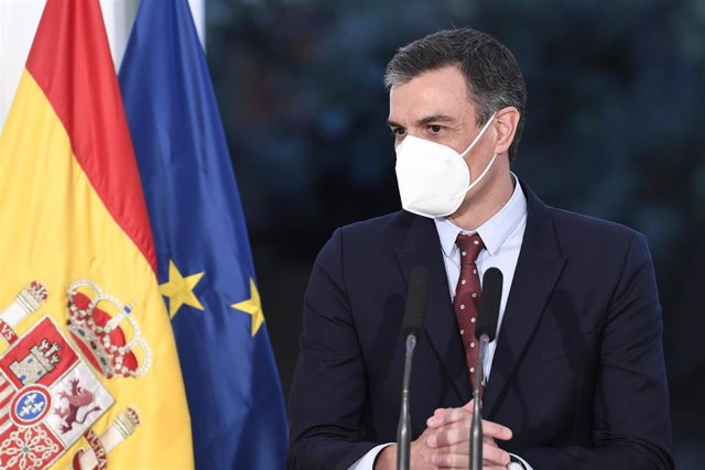 El presidente del Gobierno, Pedro Sánchez, durante su visita a Buenos Aires