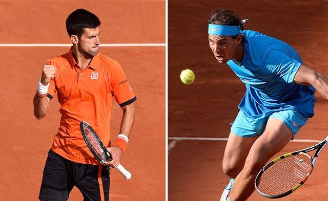 Archivo - Djokovic y Nadal se enfrentan en Roland Garros.