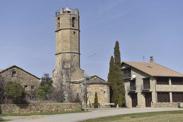 Archivo - Iglesia del municipio de Monesma y Cájigar en Huesca, Aragón (España), a 25 de febrero de 2021.
