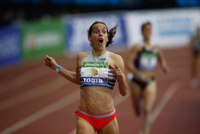 Archivo - La atleta española Esther Guerrero