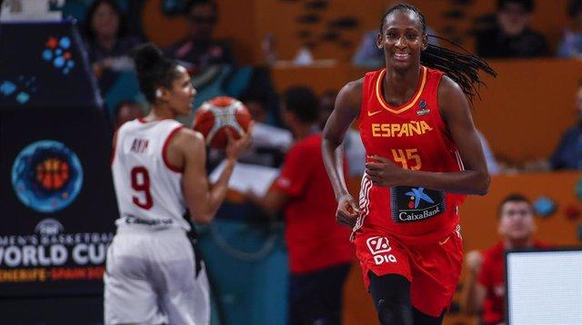 Archivo - Astou Ndour, jugadora de la Selección Española de Baloncesto Femenino