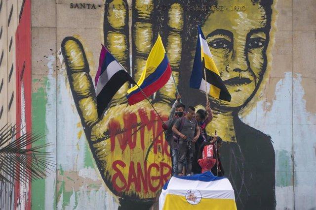 Manifestaciones antigubernamentales en Colombia.