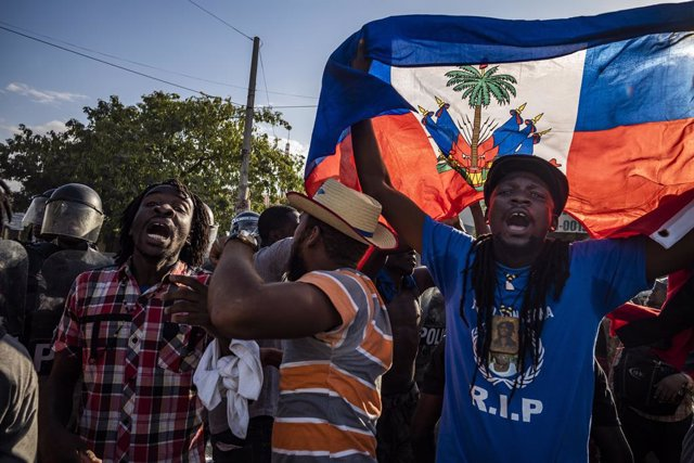 Una manifestación contra el presidente haitiano Jovenel Moise