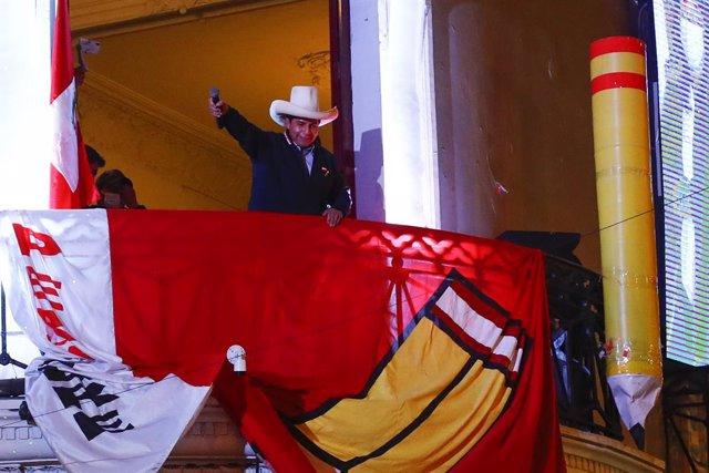 El candidato de Perú Libre a la Presidencia, Pedro Castillo.