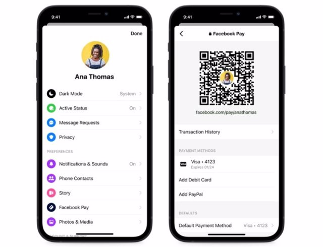 QR para transferencias en Messenger