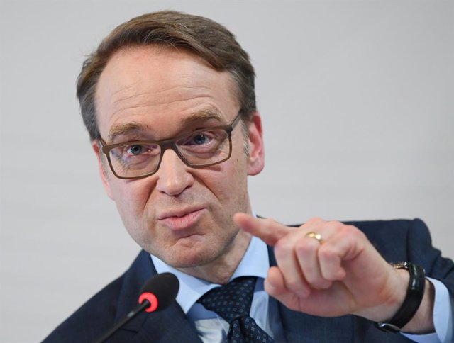 Archivo - FILED - 27 February 2019, Hessen, Frankfurt_Main: The president of Bundesbank Jens Weidmann speaks during a presser. Weidmann said on Friday that Germany should gradually overcome its current economic lull, with stronger growth expected from 202