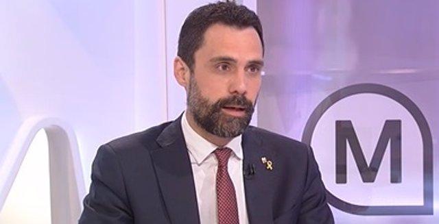 Arxiu - El conseller d'Empresa i Treball de la Generalitat, Roger Torrent.
