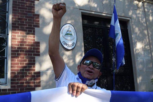 Manifestación contra el Gobierno de Nicaragua en Washington