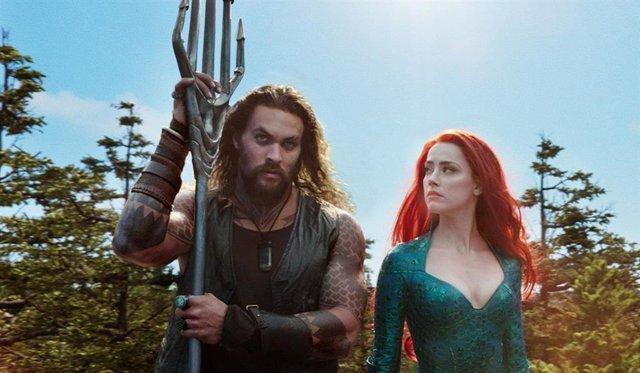 Archivo - Jasomo Momoa y Amber Head en Aquaman