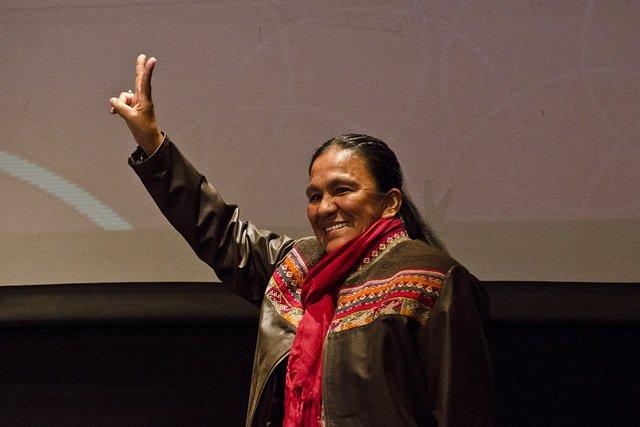 Archivo - La activista indígena argentina y líder de la organización Tupac Amaru Milagro Sala.