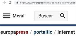 Imagen de la barra de direcciones con la URL completa de la web de Portaltic