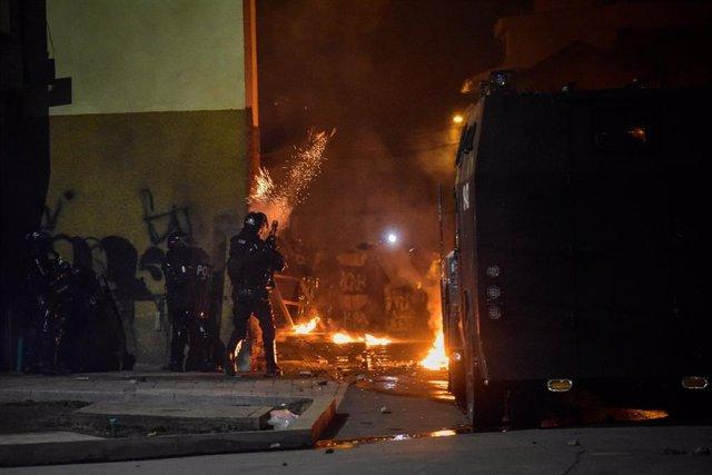 Protestas contra el Gobierno de Iván Duque en Pasto, Colombia.