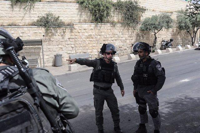 Archivo - Fuerzas de seguridad de Israel en Jerusalén