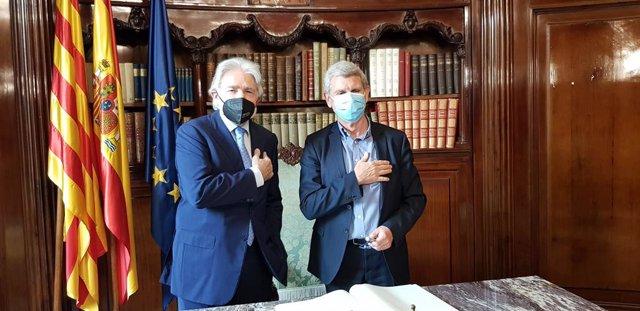 El president de RTVE, Jose Manuel Pérez Tornero, i el president de Foment del Treball, Josep Sánchez Llibre