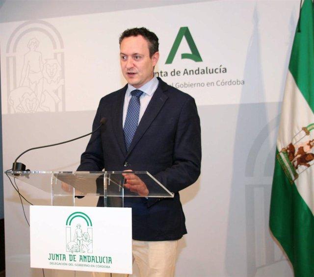 El delegado de Agricultura, Ganadería y Pesca de la Junta de Andalucía en Córdoba, Juan Ramón Pérez.