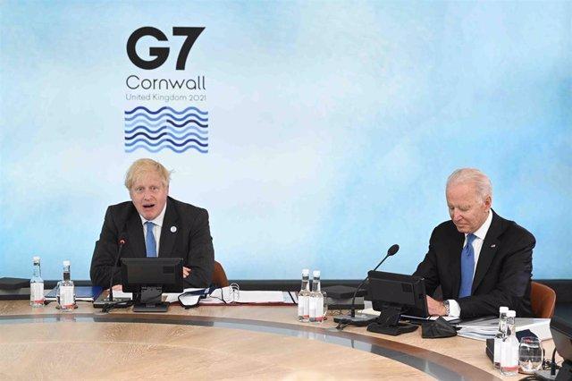 El primer ministro británico, Boris Johnson, y el presidente de Estados Unidos, Joe Biden.