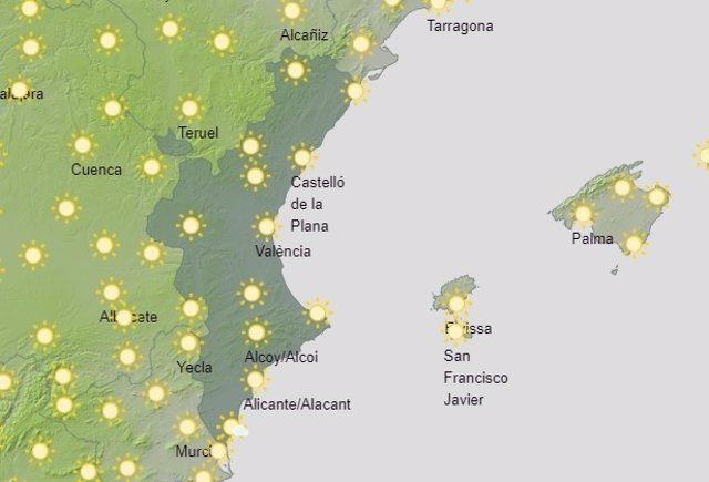 Predicción del tiempo para este sábado 12 de junio