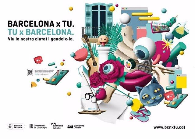 Barcelona llança la campanya 'Barcelona x La teva. La teva x Barcelona' per reactivar el comerç i la restauració del centre de la ciutat.