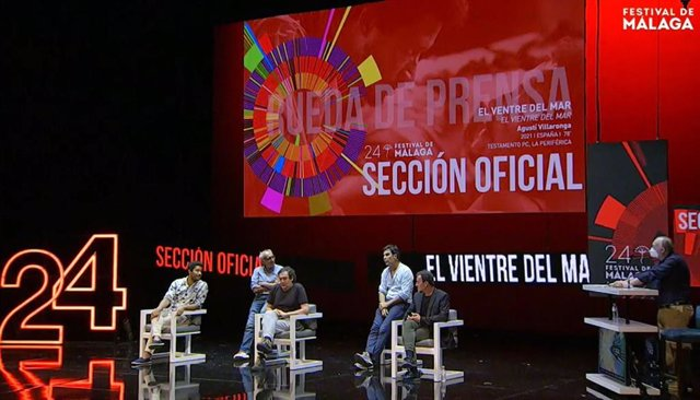 Roda de premsa de la pel·lícula 'El ventre del mar' en el 24 festival de Cinema de Màlaga en una imatge d'arxiu