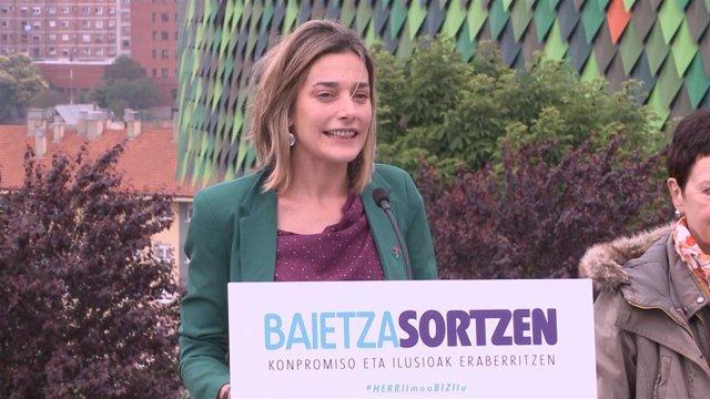 Archivo - Miren Zabaleta, coordinadora política de EH Bildu en Navarra