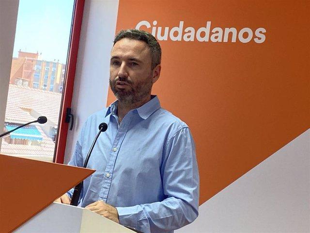 Guillermo Díaz, secretario de Comunicación de Cs Andalucía, en rueda de prensa