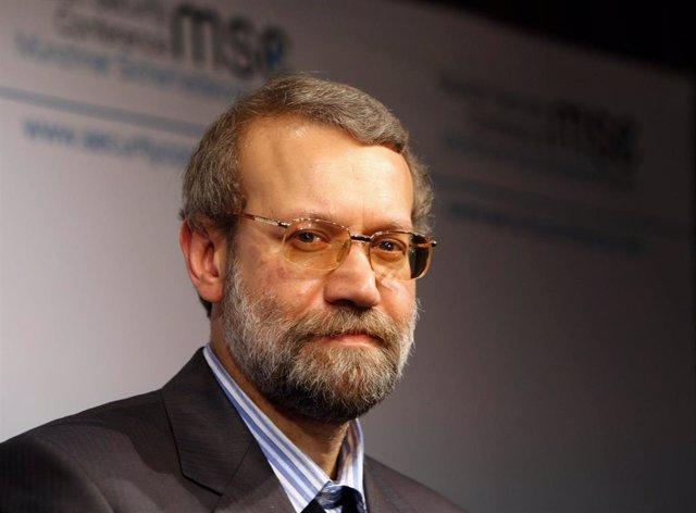 Archivo - El expresidente del Parlamento de Irán Alí Lariyani