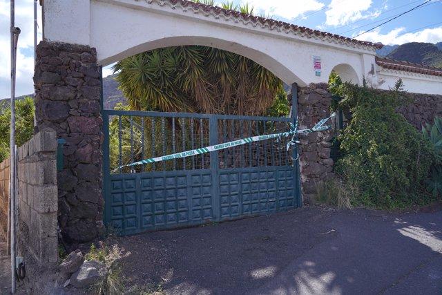Casa donde vivía Tomás Gimeno y donde presuntamente mató a sus hijas