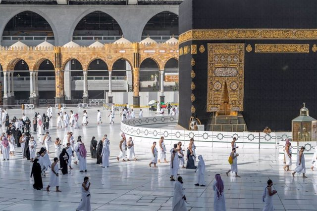 Archivo - Arxiu - Pelegrins en La Meca, a l'Aràbia Saudita, durant la pandèmia de coronavirus
