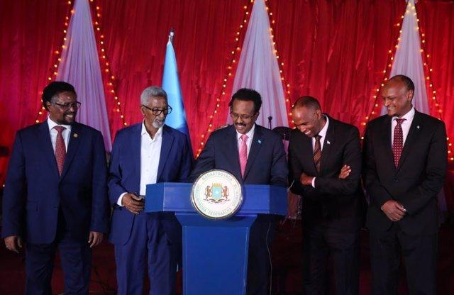 Archivo - El presidente de Somalia, Mohamed Abdullahi Farmajo