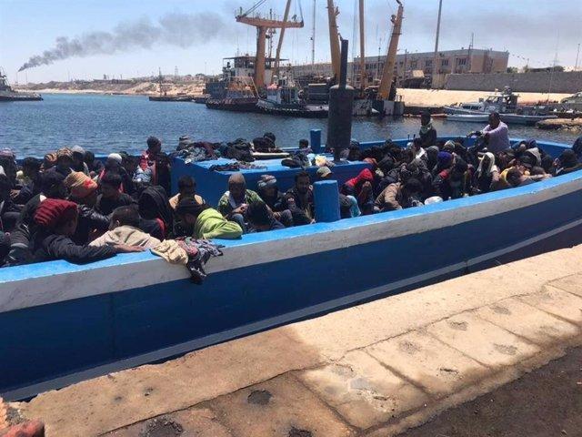 Rescate de migrantes en Libia