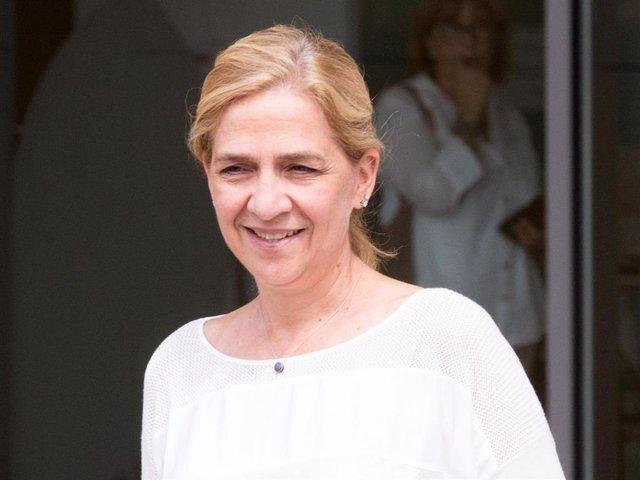 Archivo - La Infanta Cristina, en una de sus últimas visitas a la capital española