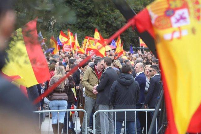 Archivo - Foto de Colón en la manifestación