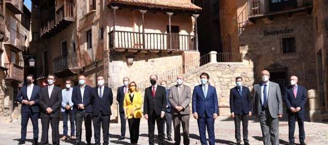 Reunión de los presidentes de Aragón, Castilla y León y Castilla-La Mancha en Albarracín (Teruel).