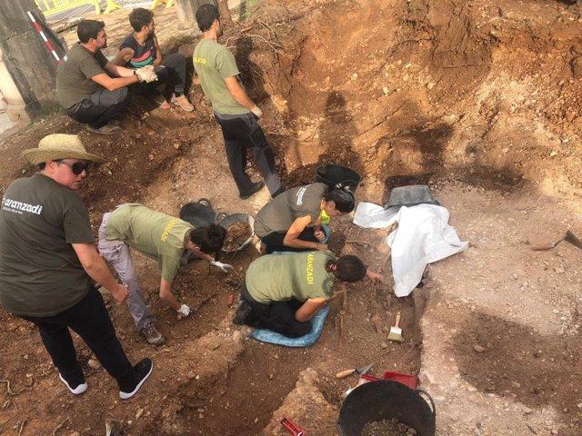 Archivo - Tareas de exhumación en Baleares en fosas de la Guerra Civil. Archivo.