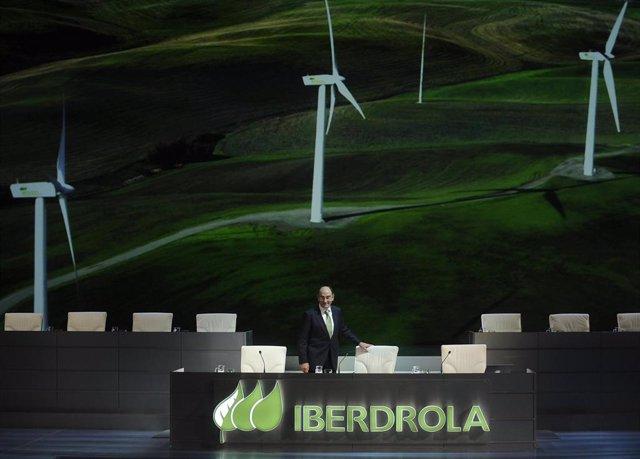 Archivo - El presidente de Iberdrola, Ignacio Sánchez Galán, en la junta de 2019