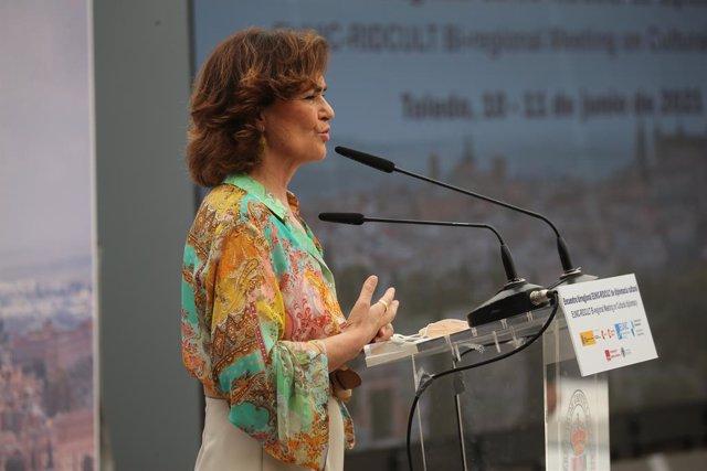 La vicepresidenta primera i ministra de la Presidència, Relacions amb les Corts i Memòria Democràtica, Carmen Calvo