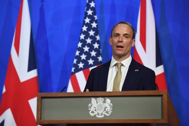 Archivo - El ministro de Exteriores de Reino Unido, Dominic Raab