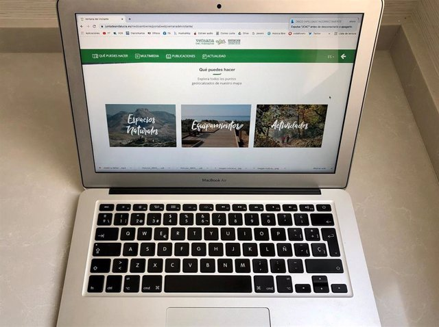 Imagen del portal de visitantes de los Espacios Naturales de la Consejería de Agricultura.