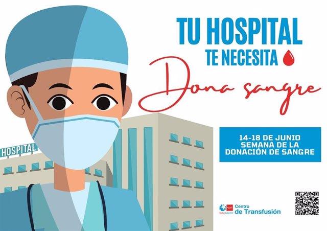 Campaña de donación de sangre para hospitales madrileños