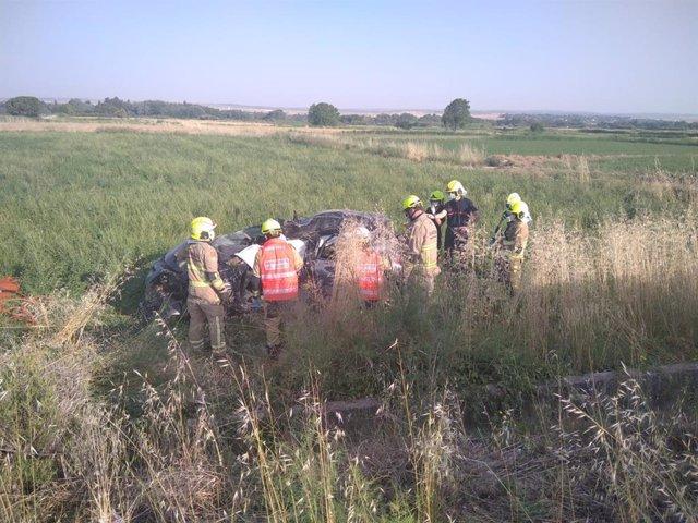 Fallece un joven de 27 años en un accidente de tráfico en la A-123, en Peñaflor.