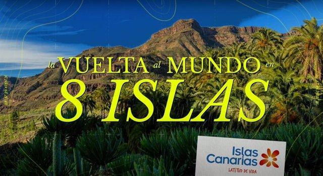 Imagen de la campaña lanzada por Turismo de Islas Canarias para captar viajeros que buscan destinos exóticos y de naturaleza