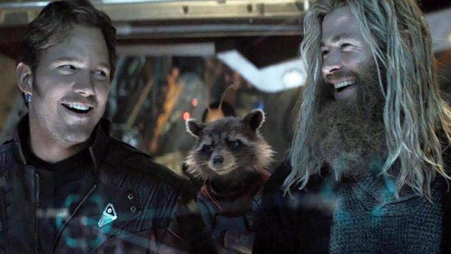 Chris Pratt como Star Lord y Chris Hemsworth como Thor