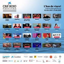 Cartell del Festival de Cap Roig