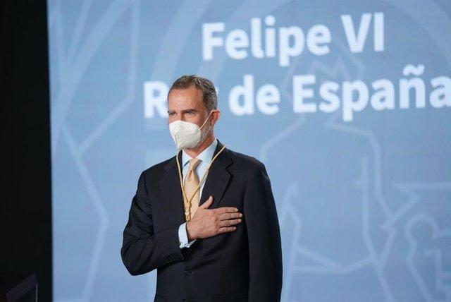 El rey Felipe VI recibe la Medalla de Honor de Andalucía, este lunes en Sevilla