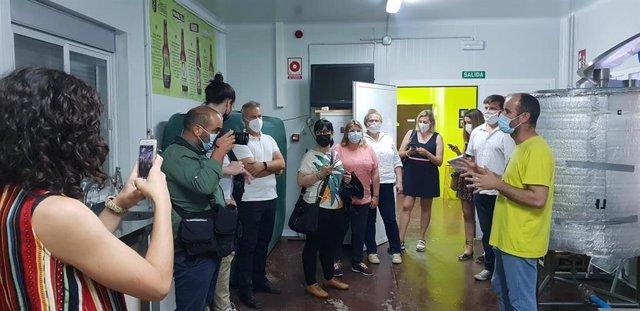 Participantes en el viaje de familiarización sobre productos Degusta Jaén.