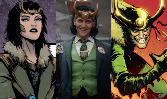 Varias versiones de Loki, personaje de Marvel