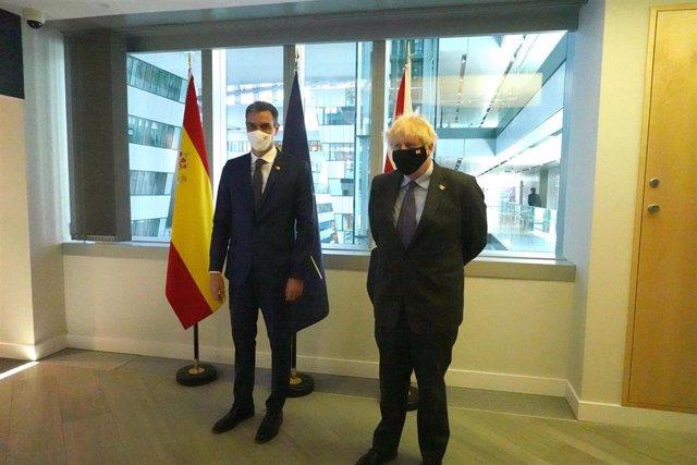 El presidente del Gobierno, Pedro Sánchez, se reúne con el primer ministro de Reino Unido, Boris Johnson