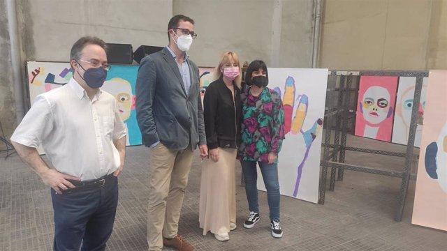 Luis Feás, José Luis Costillas, Marta Fermín y Natalia Alonso